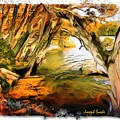 Do-00268 Trees On Water In Avoca Estuary by Digital Oil