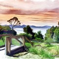 Do-00272 Look Out From Sarah Island by Digital Oil