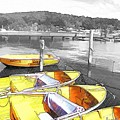 Do-00279 Yellow Boats by Digital Oil