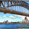 Do-00284 Sydney Harbour Bridge And Opera House by Digital Oil