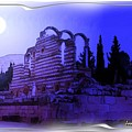 Do-00307 Moon On Anjar Ruins by Digital Oil