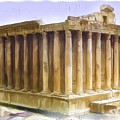 Do-00312 Temple Of Bacchus In Baalbeck by Digital Oil