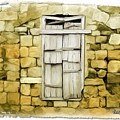 Do-00322 An Old Door And Wall by Digital Oil