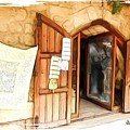 Do-00345 Display Door In The Souk Of Byblos by Digital Oil