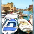 Do-00347 Boats In Byblos Port by Digital Oil