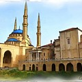 Do-00362al Amin Mosque And St George Maronite Cathedral by Digital Oil