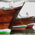 Do-00476 Abra Dhow Boats by Digital Oil