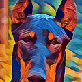 Doberman I C by Dreana Stenz