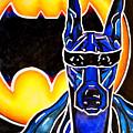 Dog Superhero Bat by Jackie Carpenter