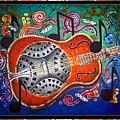 Dobro - Slide Guitar-bordered by Sue Duda