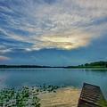 Dock At Shipshewana Lake by David Arment