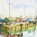 Dock Gate Dysart Harbour Fife by John Bonington