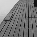 Dock In Black And White by Nadine Rippelmeyer