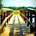 Dock On Alston Creek by Jill Tennison