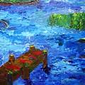 Dock On The Marsh by Karen L Christophersen