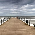 Dock With Benches, Saltburn, England by John Short