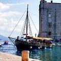 Docking In Dubrovnik Harbour by Lance Sheridan-Peel