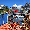 Dockside Peggys Cove by David Matthews