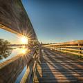 Dockside Sunset by Ronald Kotinsky