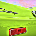 Dodge Challenger In Sublime Green by Gordon Dean II