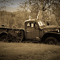 Dodge Power Wagon Rusting In A Field In Vermont by Jeff Folger