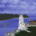 Dofflemeyer Point Lighthouse At Boston Harbor by Anne Norskog