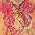 Dog And Butterfly by Maria Urso