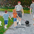 Dog Walkers by Libby  Cagle