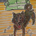 Doggy Snack Time by Geraldine Myszenski
