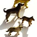 Dogs Figurines by Bernard Jaubert