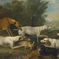 Dogs In A Landscape With Their Catch by Celestial Images