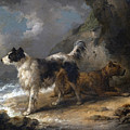 Dogs On The Coast by George Morland