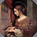 Dolci Carlo St Cecilia At The Organ by PixBreak Art