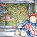 Doll In Window 2 by Joseph Sandora Jr