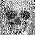 Dolls Skull Mosaic by Paul Van Scott