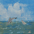 Dolphin Frolic by Libby  Cagle