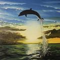 Dolphin Jump by Roman Zaric