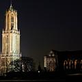 Dom Tower And Dom Church In Utrecht In The Evening 2 by Merijn Van der Vliet
