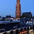 Dom Tower In Utrecht At Dusk 24 by Merijn Van der Vliet