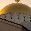 Dome And Cross At St Sophia by Ed Gleichman