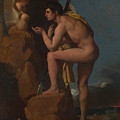 Dominique Ingres   Oedipus And The Sphinx by PixBreak Art