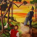 Don Quixote And Sancho by Dominica Alcantara
