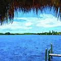 Dona Bay Watercolor View by Susan Molnar