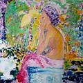 Donna In Garden by Geraldine Liquidano
