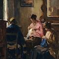 Donne Che Cuciono by Ludovico Tommasi