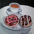Donuts And Coffee- Donas Y Cafe by Rezzan Erguvan-Onal