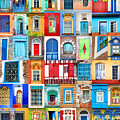 Doors And Windows Of The World - Vertical by Delphimages Photo Creations