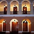 Doors Of San Juan Square by Deborah  Crew-Johnson