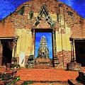Doorway To Wat Ratburana In Ayutthaya, Thailand by Sam Antonio Photography