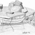 Dory In The Cove by Selinda Van Horn